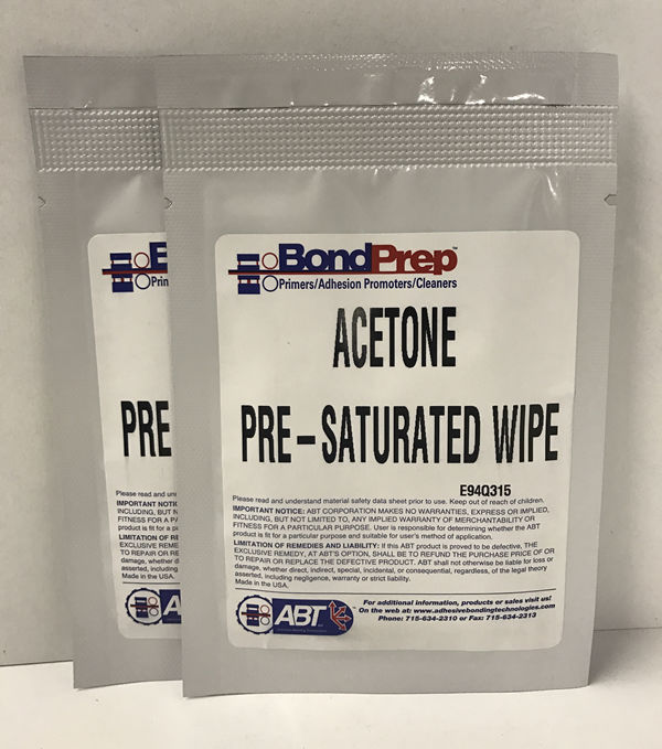 BondPrep                        Acetone Pre-saturated wipes